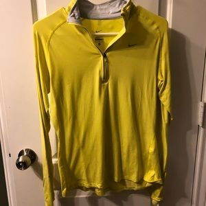 Neon yellow Nike running top